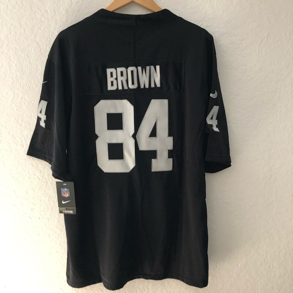 best website 0446e 0d32d Men's Oakland Raiders Antonio Brown Black Jersey NWT